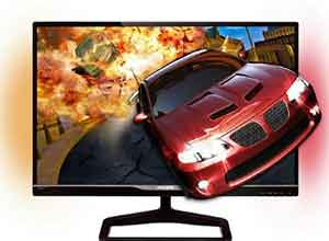 Philips 27 Inch LCD monitor with Ambiglow for immersive 3D gaming